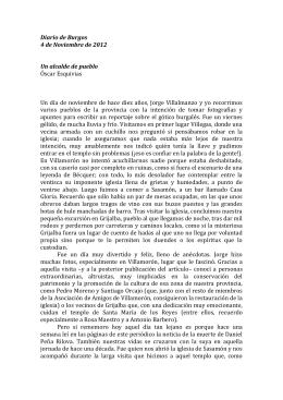 Diario de Burgos 4 de Noviembre de 2012 Un alcalde de pueblo