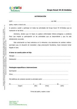 Autorización - Grupo Scout 44 Al Andalus
