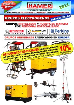 Grupos Electrógenos, Gasolina