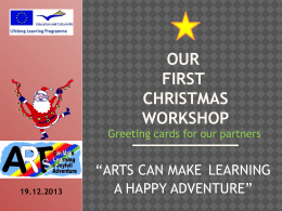 Our First CHristmas Workshop