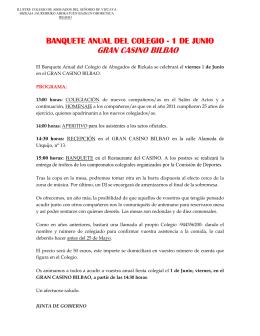 GRAN CASINO BILBAO - Ilustre Colegio de Abogados del Señorio