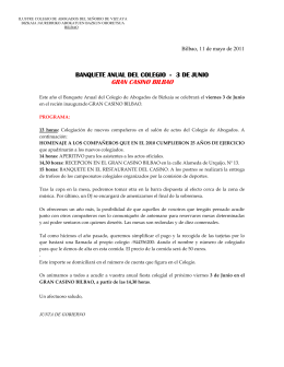GRAN CASINO BILBAO - Colegio de Abogados de Vizcaya