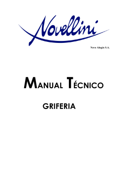 MANUAL TÉCNICO GRIFERIA