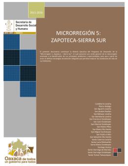 MICRORREGIÓN 5: ZAPOTECA-SIERRA SUR