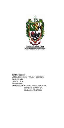matera - Universidad del Salvador