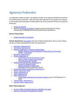 Agencias Federales