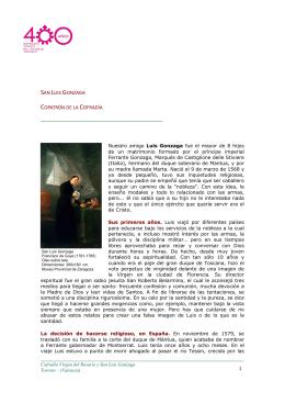 Biografía de San Luis Gonzaga