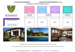 CLUB DE GOLF BONMONT ALQUILER DE APARTAMENTOS 2015 _
