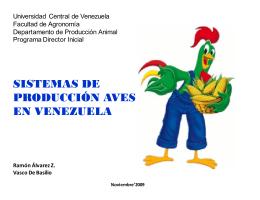 sistemas de producción aves en venezuela