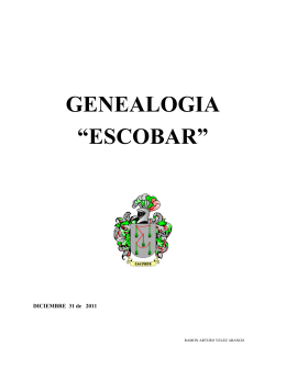 GENEALOGIA DE LOS GUTIERREZ - Ramón Arturo Vélez Arango