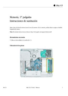 iMac G5 (17-inch_17-inch ALS) Memory (DIY)