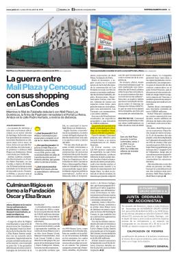 La guerra entre Mall Plaza y Cencosud con sus shopping en
