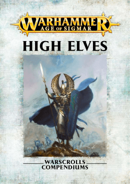 HIGH ELVES - Games Workshop