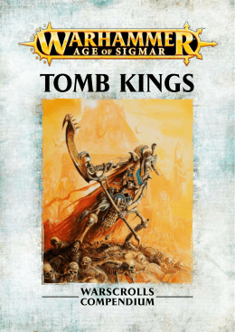 TOMB KINGS - Games Workshop