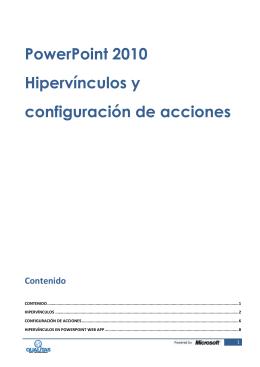 PowerPoint 2010 Hipervínculos y configuración
