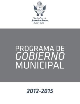 Plan de Gobierno - Juventino Rosas