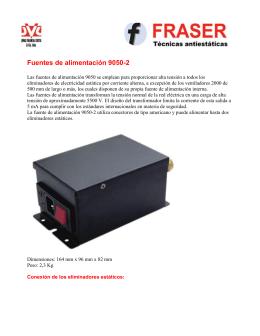 Fuentes de alimentación 9050-2 - control de estática