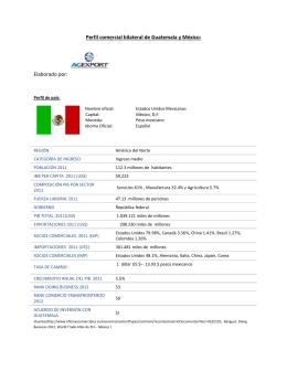 Perfil comercial bilateral de Guatemala y México: Elaborado por: