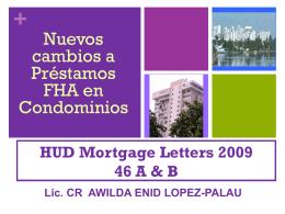 (FHA) en la Propiedad Horizontal