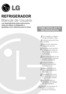 REFRIGERADOR Manual de Usuario