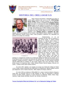 HISTORIA DEL ORILLAMAR S.D.