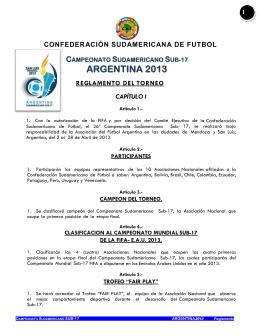 campeonato sudamericano sub-17 argentina 2013 regl
