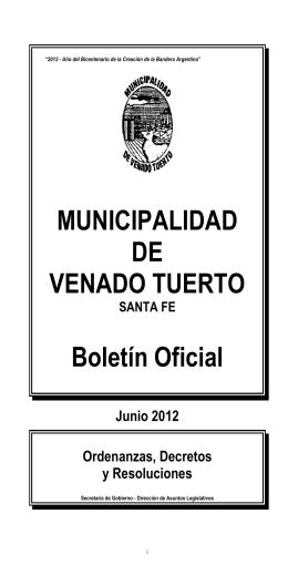 Junio - Municipalidad de Venado Tuerto