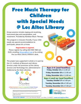 Free Music Therapy for Children with Special Needs @ Los Altos