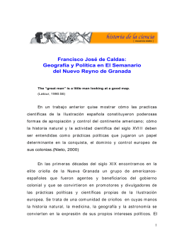 Francisco José de Caldas: Geografía y Política en El Semanario del