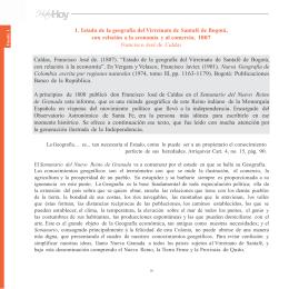 1. Estado de la geografía del Virreinato de Santafé de Bogotá, con