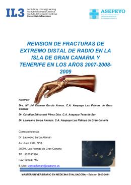 REVISION DE FRACTURAS DE EXTREMO DISTAL DE RADIO EN