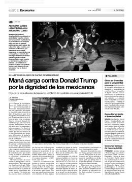 Maná carga contra Donald Trump por la dignidad de los mexicanos