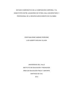 estudio comparativo de la composición corporal y el somatotipo