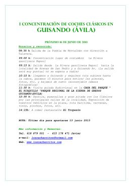 """GUISANDO (ÁVILA) - asociación de coches clásicos """"los cacharritos"""""""