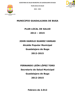 MUNICIPIO GUADALAJARA DE BUGA PLAN LOCAL DE SALUD