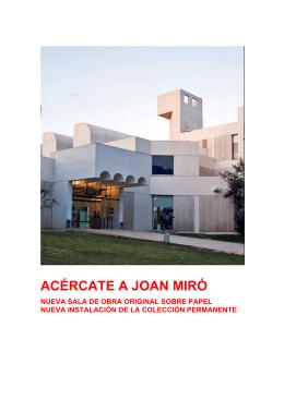 Dossier de prensa - Fundació Joan Miró
