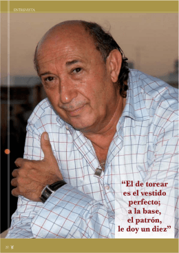 Entrevista con Francis Montesinos