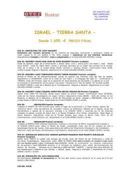 ISRAEL-TIERRA SANTA 2012 7NOCHES PDF