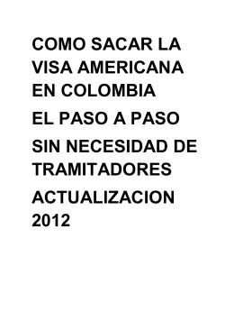 como sacar la visa americana en colombia el