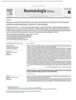 Registro nacional de pacientes con lupus eritematoso sistémico de
