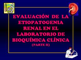 etiopatogenia renal correlaciones bioquimicas de laboratorio