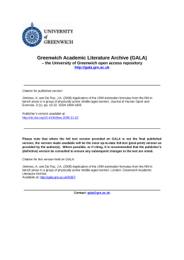 Greenwich Academic Literature Archive (GALA)