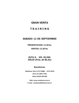 gran venta training sabado 12 de septiembre
