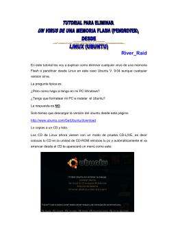 tutorial para eliminar un virus desde linux