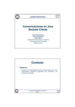La clase Socket - Universidad Carlos III de Madrid