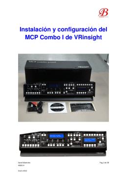 Instalación y configuración del MCP Combo I de VRinsight