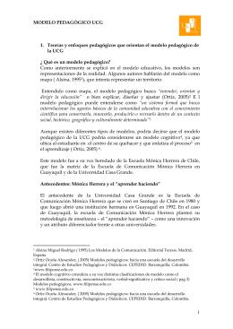 modelo pedagógico de la UCG