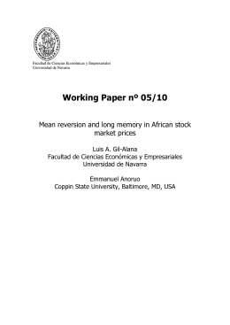 Working Paper nº 05/10 - Universidad de Navarra