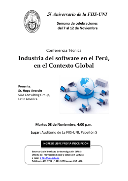 Industria del software en el Perú, en el Contexto Global Ponente