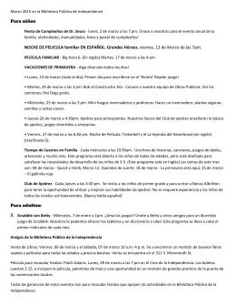 Para niños: NOCHE DE PELICULA familiar EN ESPAÑOL: Grandes